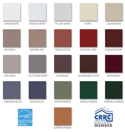 Painted Metal Roofing Colors